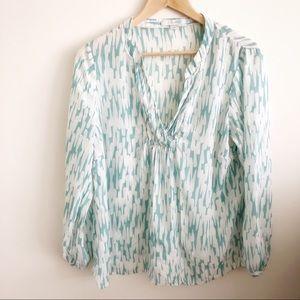 Boden Amalfi Silk Blend Aqua Top